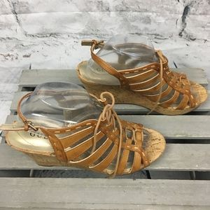 Guess Lace Up Wedge Sandals